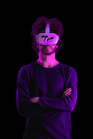 VReddy de Techneut met VR-bril