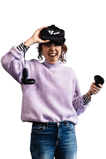 Vrouw met VR-bril